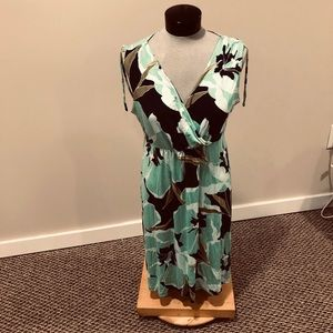 Croft&Barrow size L blue and green wrap style